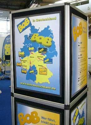 Infotafeln mit der BOB-Deutschland-Karte
